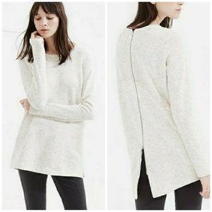 Lou & Grey | Flecked Back Zip Tunic Sweatshirt